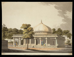'View of a mausoleum at Chinnapatnam, Mysore'. Drawn by Capt. Thomas Fraser, Madras Engineers, 1812.